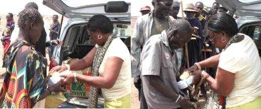 Relief supplies distribution in progress